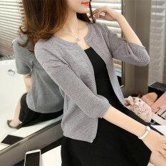 เสื้อกันหนาวเกาหลีฤดูใบไม้ผลิและฤดูร้อนใหม่หลวม สีเทา ใน ฮ่องกง