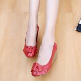 โปรโมชั่น รองเท้าสีขาวฤดูใบไม้ผลิและฤดูใบไม้ร่วง สีแดง ใน ฮ่องกง
