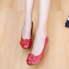 ราคา รองเท้าสีขาวฤดูใบไม้ผลิและฤดูใบไม้ร่วง สีแดง Unbranded Generic เป็นต้นฉบับ