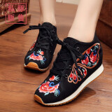 ราคา ลมโบราณรองเท้าผ้าปักกิ่งเก่าเสื้อผ้าจีน สีดำ ฮ่องกง
