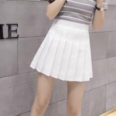 ซื้อ กระโปรงจีบรอบตัว ผู้หญิง ลายสก๊อตUnderstand จีบกระโปรงสีขาว จีบกระโปรงสีขาว