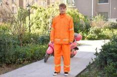 ราคา พาราไดซ์กางเกงสายฝนกลางแจ้งเสื้อกันฝนสีส้มสำหรับผู้ชายและผู้หญิงคู่ สีส้ม ฮ่องกง