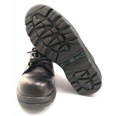 ซื้อ รองเท้าเซฟตี้ รองเท้านิรภัย รองเท้าหัวเหล็ก ผลิตจากหนังวัวแท้ หนังลาย ถูก สมุทรปราการ
