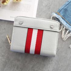 ขาย ซื้อ ยุโรปและอเมริกันสไตล์หมุดสีแดงและสีขาวใหม่นักเรียนกระเป๋าสตางค์กระเป๋าสตางค์ขนาดเล็ก สีเทา ใน ฮ่องกง