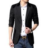 ขาย เสื้อสูทผู้ชายแบบสำสอง ขนาดใหญ่ สไตล์เกาหลี สีดำ สีดำ ฮ่องกง