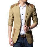 ขาย เสื้อสูทผู้ชายแบบสำสอง ขนาดใหญ่ สไตล์เกาหลี สีกากี สีกากี Unbranded Generic ถูก