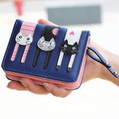 ส่วนลด กระเป๋าสตางค์น่ารักแมวสาม สีน้ำเงินเข้ม ฮ่องกง