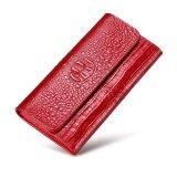 ขาย กระเป๋าสตางค์ในยุโรปและอเมริกากระเป๋าสตางค์หนังหญิงหัวเข็มขัด สีแดง ฮ่องกง ถูก