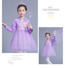 ราคา น้ำแข็งและหิมะเด็กชุดเจ้าหญิง สีม่วง Other ฮ่องกง