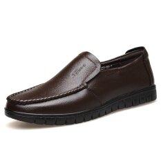 ซื้อ หนังวัยกลางคนชายพ่อรองเท้าผู้ชายรองเท้า สีน้ำตาล ออนไลน์ ฮ่องกง