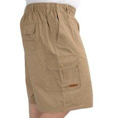 โปรโมชั่น กางเกงชายหาดผ้าฝ้ายกางเกงขาสั้นใหญ่ผู้ชายกระเป๋าด้วย สีกากี ฮ่องกง