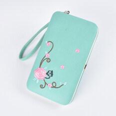 ขาย กระเป๋ามือเกาหลีปักกระเป๋านักเรียนกล่อง สีเขียวอ่อน Unbranded Generic ออนไลน์