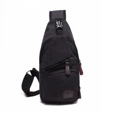 กระเป๋าผ้าใบสะพายข้างผู้ชาย สไตล์เกาหลี สีดำ สีดำ Other ถูก ใน ฮ่องกง
