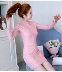 ราคา เกาหลีหญิงฤดูใบไม้ผลิใหม่สลิม Bottoming เสื้อผ้าแฟชั่น กระโปรงชุดเดรส สีชมพู ออนไลน์