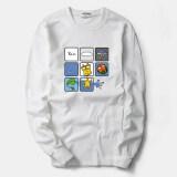 ส่วนลด เสื้อยืดผู้ชาย ผ้าพิมพ์ลาย ไซส์ใหญ่พิเศษ ขนาดเล็กแปดบล็อกสีขาว ขนาดเล็กแปดบล็อกสีขาว