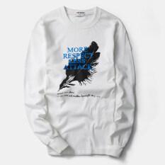 ซื้อ เสื้อยืดผู้ชาย ผ้าพิมพ์ลาย ไซส์ใหญ่พิเศษ ขนนกสีขาว ขนนกสีขาว ใหม่ล่าสุด