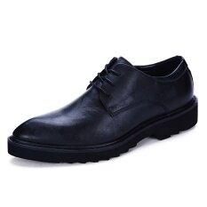 ขาย ซื้อ ชั้นแรกหนังชายแท้ธุรกิจเสื้อผ้ารองเท้ารองเท้าหนัง สีดำ ฮ่องกง