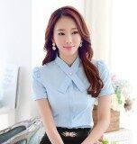 ทำงานโหลดโปโลผ้าชีฟองแขนสั้นหญิงเสื้อ ท้องฟ้าสีฟ้าปก Unbranded Generic ถูก ใน ฮ่องกง