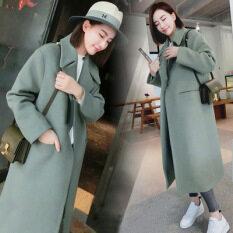 ซื้อ เสื้อเวอร์ชั่นเกาหลีบวกฝ้ายของฤดูการขาย สีเขียว ออนไลน์