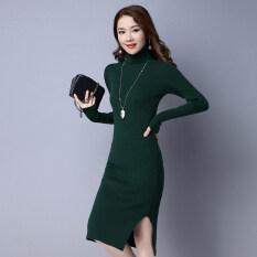 ซื้อ หญิงใหม่แน่นบางชุดคอเต่า สีเขียวเข้ม ออนไลน์ ฮ่องกง