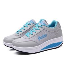 ส่วนลด รองเท้ากีฬาผู้หญิงลายผ้าตาข่าย ไซส์ใหญ่ ยูสีเทาตาข่าย ยูสีเทาตาข่าย Other