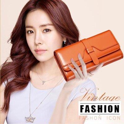 ขาย Banana Shop กระเป๋าเงินผู้หญิง กระเป๋าสตางค์ ใบยาว รุ่น Lw 001 สีน้ำตาล ใหม่
