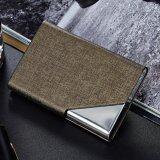 ขาย Pu Leather Stainless Steel Business Card Holder Name Card Case With Magnetic Shut Bronze ออนไลน์ จีน