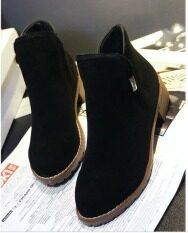 ซื้อ พุดดิ้งรองเท้าบูทวินเทอร์มาร์ตินรองเท้าสีดำ Unbranded Generic ถูก