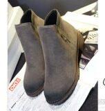 ราคา Pudding Korea Korean Fashion British Wind Boots Martin Boots Grey ออนไลน์