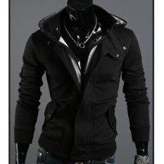 ขาย ซื้อ เสื้อแจ็คเก็ตมีฮู้ดเสื้อบุรุษพุดดิ้งสีดำ ใน จีน