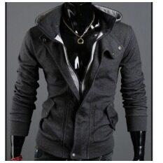 ราคา พุดดิ้งมีฮู้ด Cardigan เสื้อกันหนาวผู้ชายเสื้อสูทสีเทา นานาชาติ จีน
