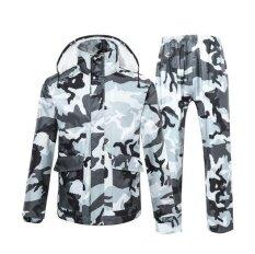 พุดดิ้งผู้ชายและผู้หญิงแยกเสื้อกันฝนกลางแจ้งปีนเขาตกปลาสูทสีเทา - นานาชาติเสื้อผ้าแฟชั่นเสื้อกันฝน .