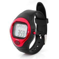 ขาย Pulse Rate Counter Men S Red Silicone Strap Watch ฮ่องกง ถูก