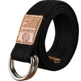 ส่วนลด Q Shop Canvas Belt Double D Ring Buckle Unisex Casual Designed For Youthful 115Cm(Black) Unbranded Generic สมุทรปราการ