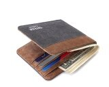 ขาย Q Shop Canvas Wallet High Quality Fashion Leisure Canvas Men Wallet(Gray Coffee) Intl Unbranded Generic