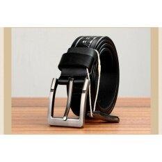 Q Shop Genuine Leather Cattle Belt Needle Buckle Belt For Men Size 120Cm 47 Inch Black Intl ใหม่ล่าสุด