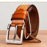 ซื้อ Q Shop Genuine Leather Cattle Belt Needle Buckle Belt For Men Size 120Cm 47 Inch Orange Intl ใหม่