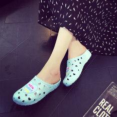 ส่วนลด Qianzhixing ชายหาดรองเท้าในยุโรปและอเมริการองเท้าแตะหญิงลื่น ท้องฟ้าสีฟ้า ฮ่องกง