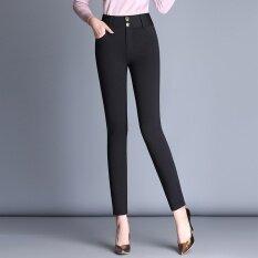 สีดำแน่นฟุตดินสอกางเกงใหม่กางเกง สีดำ ธรรมดากางเกง เป็นต้นฉบับ
