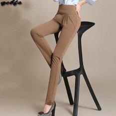 ขาย ซื้อ Mm เสื้อผ้าแฟชั่น กางเกงลำลองหญิงยืดกางเกงหลวมบาง สีกากีเข้ม ใน ฮ่องกง