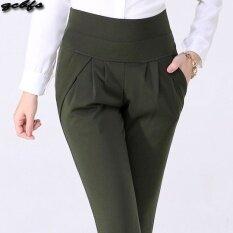 ราคา Mm เสื้อผ้าแฟชั่น กางเกงลำลองหญิงยืดกางเกงหลวมบาง กองทัพสีเขียว Unbranded Generic
