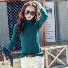 ราคา ป่าบวกกำมะหยี่สลิมกองปกเสื้อขนาดเล็ก Qiudong เสื้อคอปกเสื้อสูง นกยูงสีฟ้า Unbranded Generic ใหม่