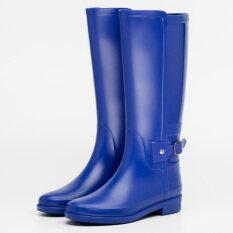 ราคา คลาสสิกของอังกฤษและฤดูร้อน Gaotong กันน้ำฝนรองเท้าบูท สีฟ้า ใหม่