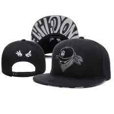 ราคา Qiuji Men Women Adjustable Baseball Cap Caps Snapback Bone Sports Hat Hats Hip Hop Exquisite Embroidery Black Intl ออนไลน์
