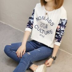 หลวมบนใหม่สวมใส่ด้านนอก Qiuyi เสื้อยืด 159 Our สีขาว เป็นต้นฉบับ