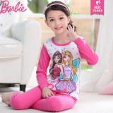 ชุดนอนเซท2ชิ้นสำหรับเด็กหญิง เสื้อ กางเกง ผ้าฝ้าย ยี่ห้อBarbie 76008 ดอกกุหลาบสีแดง 76008 ดอกกุหลาบสีแดง Barbie ถูก ใน ฮ่องกง