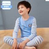 ราคา ฤดูใบไม้ร่วงและฤดูหนาวผ้าฝ้ายเด็กชายวัยรุ่นส่วนบางชุดนอนเด็ก Qiuyi K173A210 สีฟ้าอ่อน ใหม่ล่าสุด