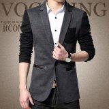 ราคา Qizhef Men S Fashion Leisure Suit Grey Intl ราคาถูกที่สุด