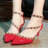 โปรโมชั่น Qizhef Ms ชี้รองเท้าหัวเข็มขัดบางเฉียบสีแดง นานาชาติ Unbranded Generic ใหม่ล่าสุด