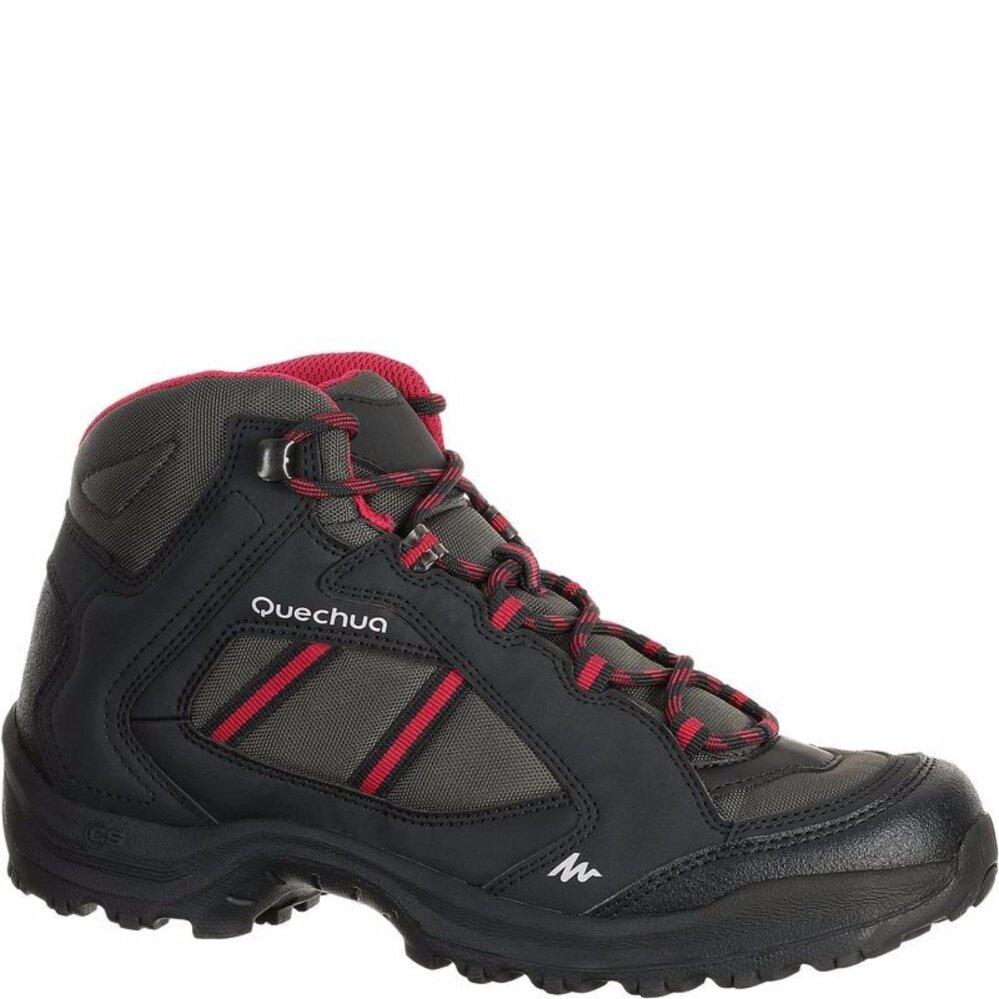 โปรโมชั่น รองเท้าเดินป่า ปีนเขา ใส่ออกกำลังกาย สำหรับผู้หญิงQuechua Arpenaz 50 สีดำ ชมพู ใน กรุงเทพมหานคร